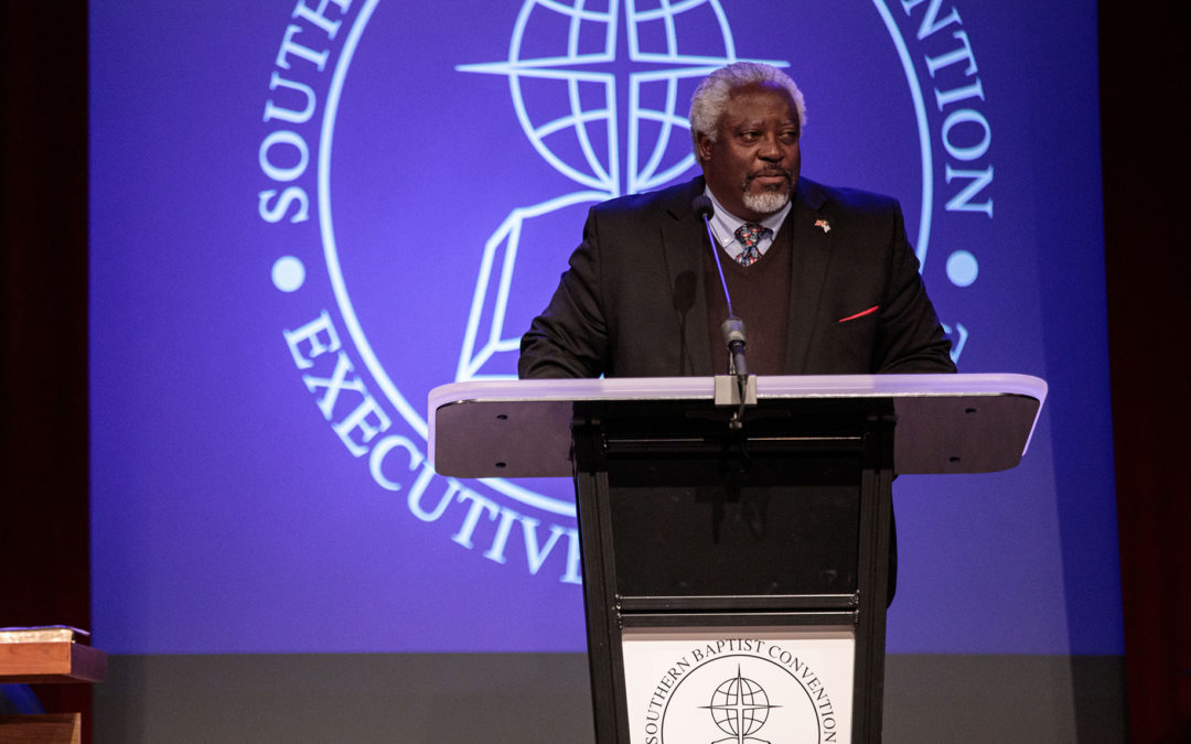 Rolland Slade elected EC chairman; Reflecting on 1995's resolution on racial reconciliation